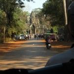 Approaching the South Gate of Angkor Thom