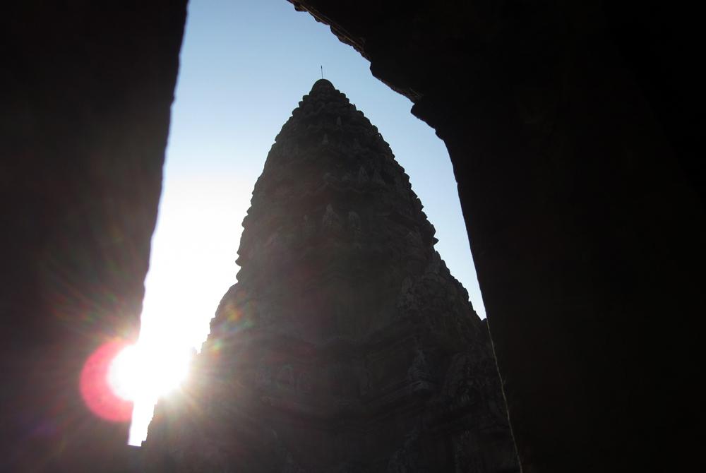 Sunrise through doorway