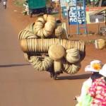 Artistically swirling baskets
