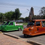 Ayutthaya is known for its customized tuk-tuks