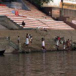 Hindus bathe in the sacred Ganges for purification