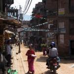 Bustling alley