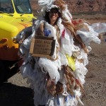 Plastic bag lady reminds us why we're carrying around those fabric shopping bags