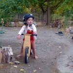 Violet on two wheels