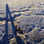 Towering over the salt flats