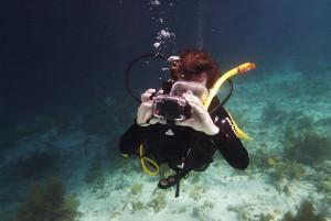 Underwater camerman