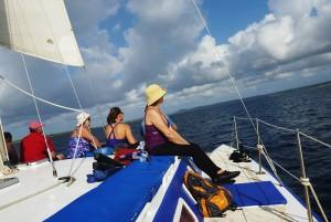 Sailboat to snorkel spots