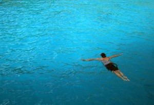 Karen snorkeling in Thailand