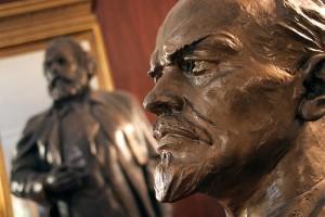 Lenin looks on
