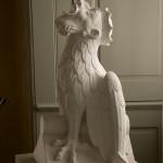 Winged king gargoyle