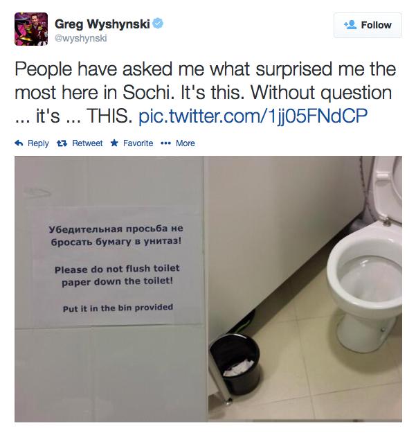 Wyshynski Toilet Tweet
