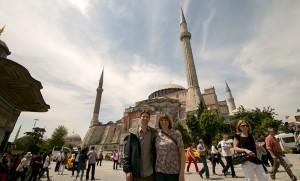 Ken & Karen at Aya Sofya
