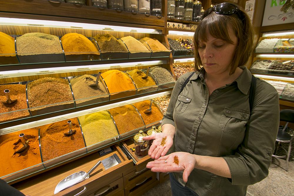 Karen samples spices