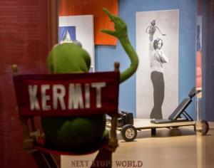 Kermit waves to Jim